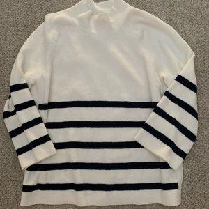 Loft Oversized Striped Sweater